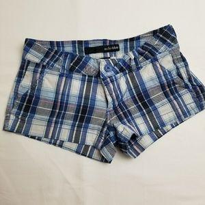 Anchor blue blue plaid shorts size 1